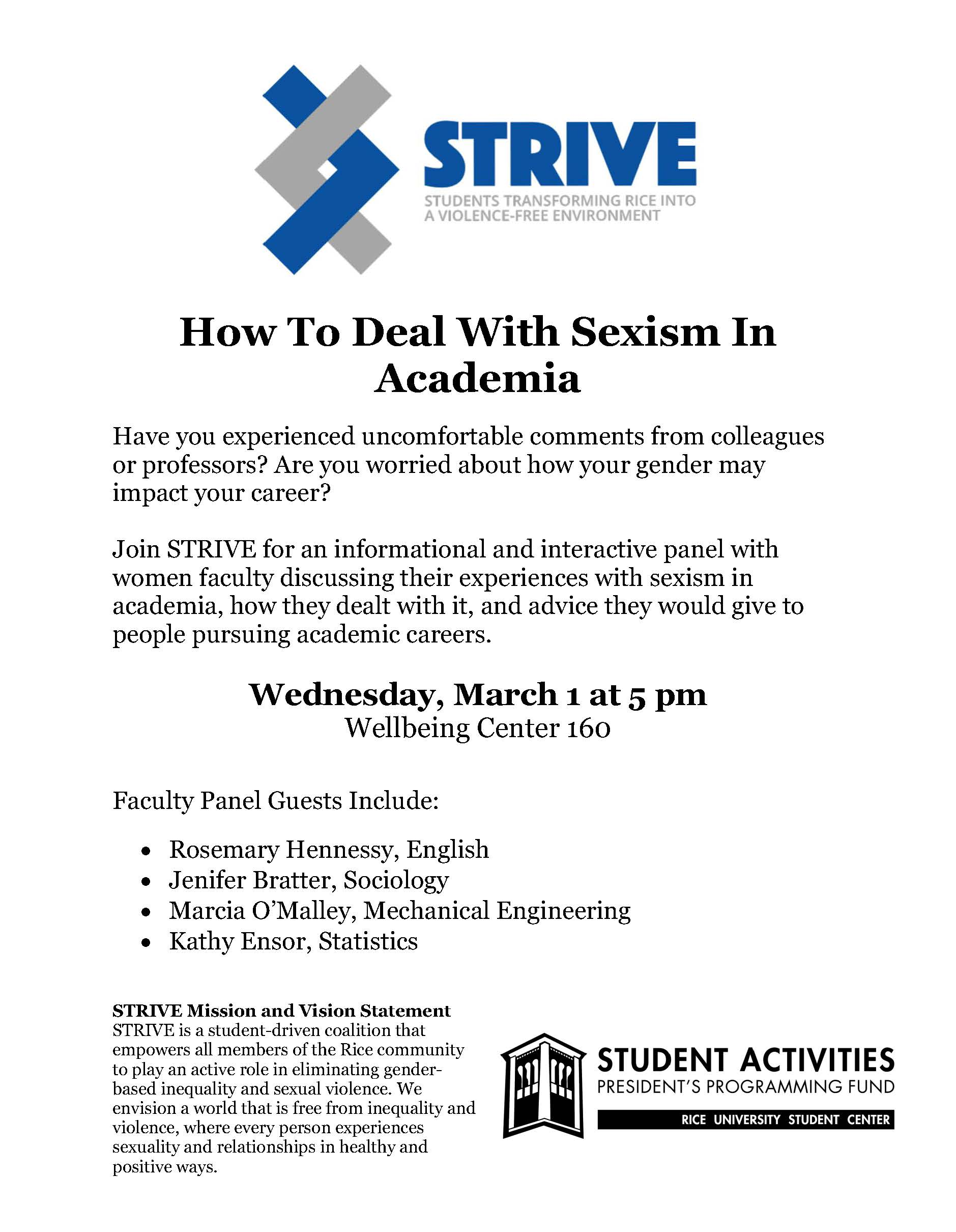 strive panel how to deal sexism in academia gps related