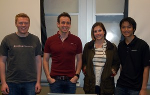 Aaron Mielke (second from left) and several members of the Quantlab Financial team.