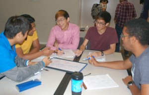 Spencer Chang in lab group with Alex Kim