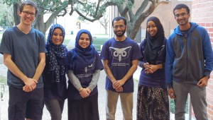 Iqra Dada (second from left) and several members of the Rice Code College leadership team