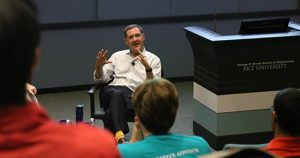 Jim Whitehurst, Red Hat CEO, in fireside chat at Rice University