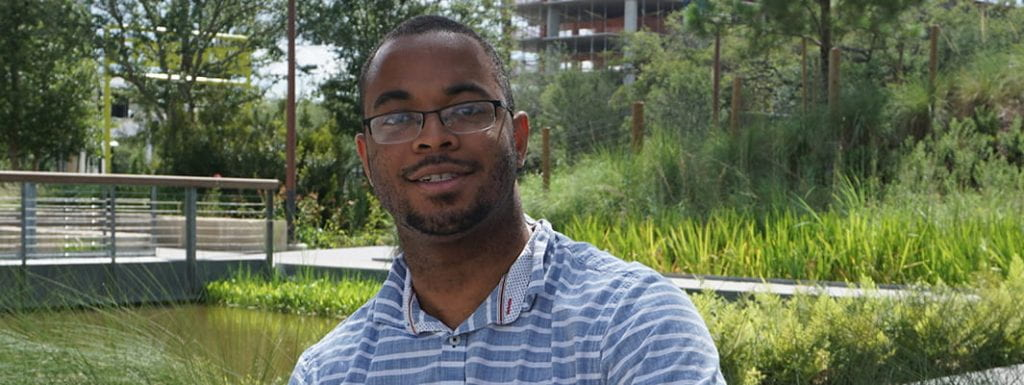 PROS senior software engineer and Rice CS alumnus Jarred Payne.