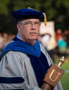 Keith Cooper served as chief marshall at Rice University Commencement for over a decade.