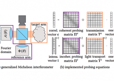 Interferometric Transmission Probing with Coded Mutual Intensity
