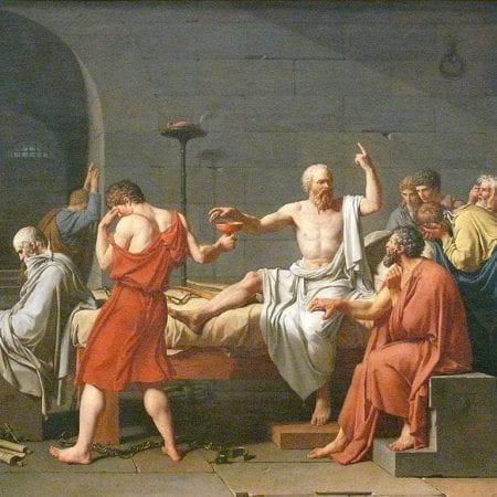 painting depicting Socrates
