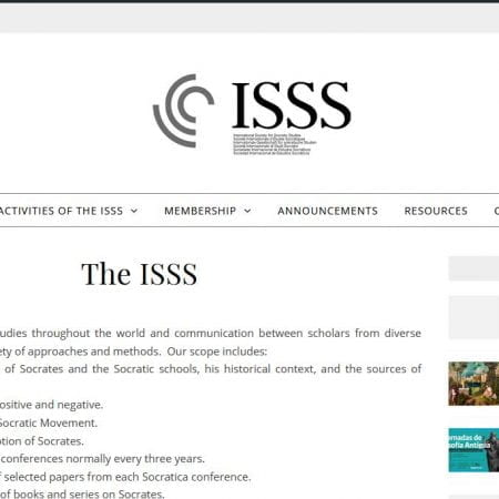 thumbnail image of ISSS website front page