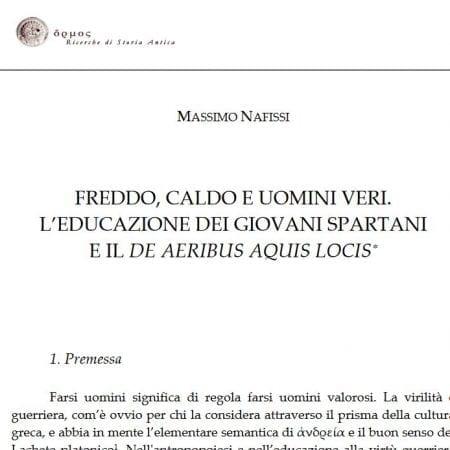 """Thumbnail image of paper """"""""Abiti e costumi spartani ad Atene, da Tucidide a Socrate"""""""""""