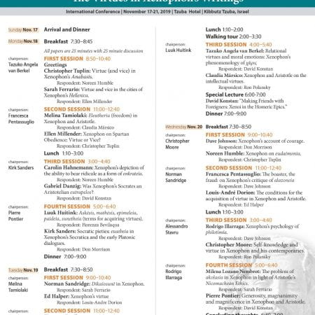 new schedule for Virtues conference