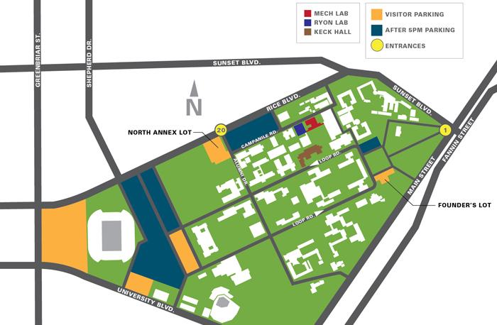 Rice University Map Maps – Events Office Rice University Map