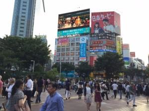 Hyper-metropolitan: A crowded street crossing in Shibuya. - Rony Ballouz