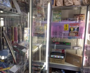 Akihabara: old video games and arcade circuit boards line the walls of Akihabara's underground game shops.