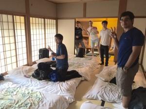 Kansai Seminar House: Settling in to the men's common bedroom. ~ Rony Ballouz