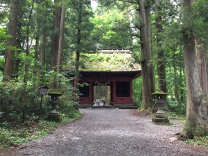 Togakushi: Gate for the upper shrine through the hiking trail north of Nagano. ~ Rony Ballouz