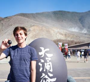 Kuro-tamago: Sulfuric onsen eggs at Hakone's Owakudani volcanic valley. ~ Rony Ballouz