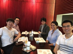 Lunch with the Prof. Maruyama and lab members and visitors.