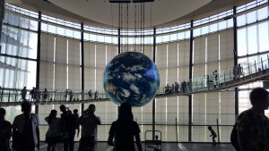 "I made it to Odaiba on the holiday (Marine Day), mainly to see the Miraikan museum. It was just as interactive, futuristic, and roboty as I'd expect a Japanese ""emerging science"" museum to be! ~ Brianna Garcia"