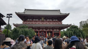 Senso-ji: Speaking of finally making it to one of those critical tourist sites… I visited Sensoji after only 7 weeks of living a 15-minute walk away. On a Saturday early afternoon, it was bustling with people from outside Nakamise right through to the temple's interior. ~ Brianna Garcia