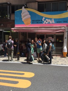 Ice cream with the Japanese senseis! Sad to be parting ways but glad to have grown under their teaching! - Daniel Gilmore