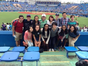 The home team may not have won, but this was a dream come true and I'm so glad I got to share it with so many people! - Submitted by Daniel Gilmore Top: Youssef, Me, Shweta, Nickolas, Yuko, Ben, Haihao, Rony Bottom: Momoko, Sasha, Mayssa, Donald, Shweta, Brianna