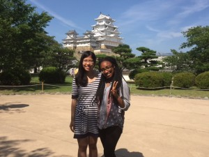 With Erica at Osaka Castle. ~ Mayssa Gregoire