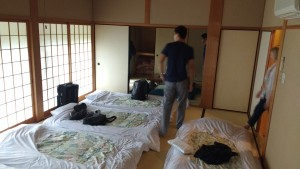 Our epic room in Kyoto! ~ Benjamin Kaiser