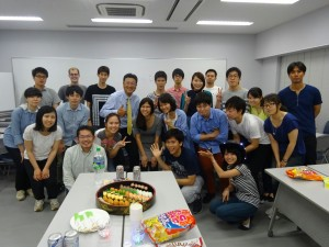 Welcome party with the Awazu Laboratory ~ Erica Lin