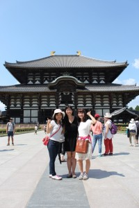 Visiting the Todai-ji Temple in Nara with my labmates. ~ Erica Lin