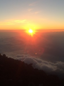 View from the top of Fuji-san! ~ Erica Lin