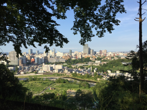 Sendai City: A nice view of the modern city from the castle remains. ~ Haihao Liu