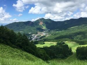 Rolling green hills: Breathtaking views hiking down Mt. Zao in Yamagata. ~ Haihao Liu