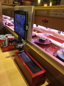 Conveyer belt sushi. ~ Brinda Malhotra