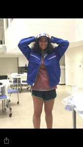 Receiving my TTI hat and jacket as gifts from my lab. ~ Brinda Malhotra