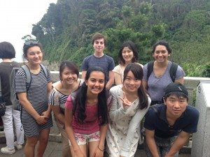 Iwaya Caves, Enoshima: Some of the KIP students planned a weekend trip with us to check out Sea Candle, temples, and the caves. - Shweta Modi