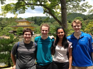 Kinkaku-ji, Kyoto: Visited this famous temple with all of the Nakatani students. ~ Shweta Modi