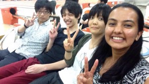 Lab Bowling, Chiba: After eating shabu shabu in Chiba with nine of my lab mates, we all went out for late-night bowling. Ayaka-san and I just managed to catch the last train back home! ~ Shweta Modi