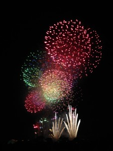 Adachi Fireworks Festival: Enjoyed trying new foods and watching these fireworks near Arakawa River. ~ Shweta Modi