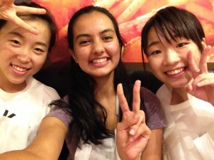 Shabu Shabu, Chiba: Enjoyed dinner for the last time with two of my Chiba friends that I made at my dorm. They also helped me move my luggage to the station—I am going to miss them! ~ Shweta Modi