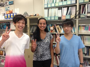 Last day in Aoki lab: My mentor, Yamanaka-san, and Matsumoto-san. ~ Shweta Modi