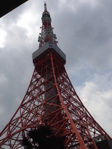 View of Tokyo Tower from Kikai Shinko Kaikan – Although we were told that our language classes would be near Tokyo Tower, I was definitely not expecting it to be across the street. - Chandni Rana