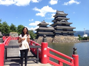 "Matsumoto Castle – The last thing we saw before leaving Nagano was the amazing Matsumoto castle. It's also apparently referred to as ""crow castle"" because of the black walls on its exterior. ~ Chandni Rana"