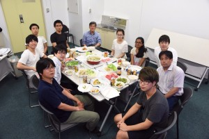 Farewell Party – Since Uematsu-san will be away on vacation for my last week in lab, we had my farewell party this week and I finally got to do shabu shabu! Every shabu shabu restaurant we went to in Tokyo was quite expensive, so Uematsu-san organized it for the the party! どうもありがとうございました ! ~ Chandni Rana