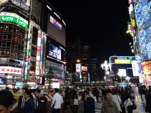 One of the many intersections in Shinjuku flooded with people. Never have I ever seen anything like this before. - Donald Swen