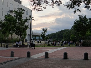 Dancing people everywhere at Osaka University, Toyonaka Campus. - Donald Swen