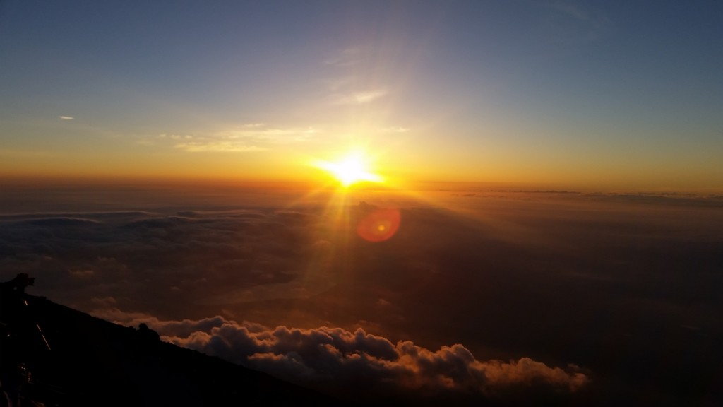 The summit of Mt. Fuji. We made it. ~ Donald Swen