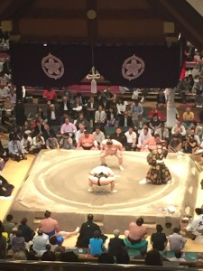 Sumo: A lot of tension builds up in the time between matches. - Youssef Tobah