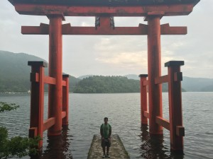 "A torii gate (also at Lake Ashi) dedicated to ""peace"" and ""friendship"" between Japan and the rest of the world. - Youssef Tobah"