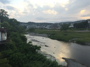 A river in Sendai that I pass over to get to the super market. It seems that there are a lot of nice nature spots in and around Sendai. - Youssef Tobah