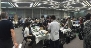 Robotics Competition: I went to go watch a robotics competition with Watamura-san from the lab. The picture may not capture it so well, but there were a lot of amazing and creatively designed robots there! - Youssef Tobah