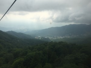 On Sunday I went to Mt. Zao. Here is the view from the ropeway of what I think is one of Zao's onsen resorts. ~ Youssef Tobah