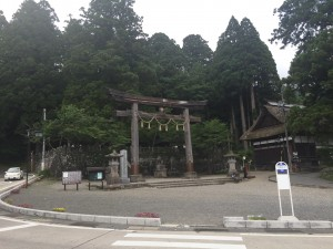 A bus took me from Nagano station to this shrine on Togakushi. After meeting up with Ben, Rony, and Haihao we explored the shrine together. ~ Youssef Tobah